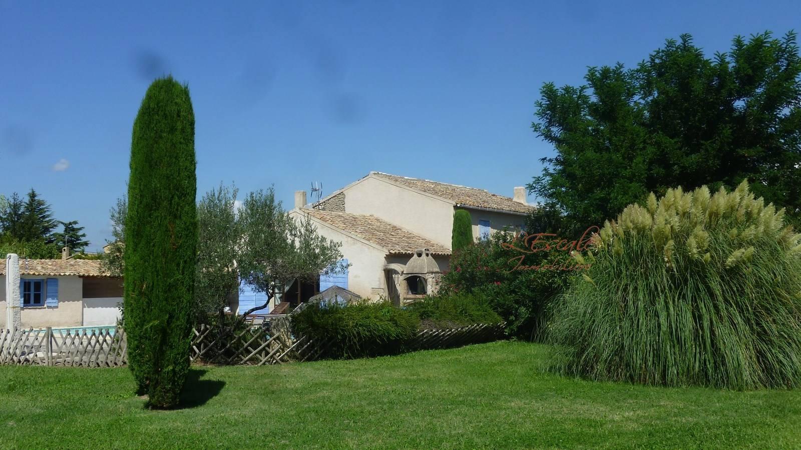 Mas provençal 6 pièces Cheval Blanc en campagne avec 4 chambres sur grand terrain clos avec piscine