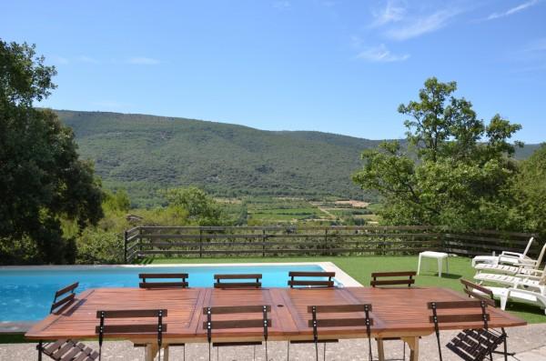 Vente Maison Lacoste - terrasse piscine vue luberon